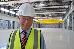 IAEA Director-General Amano in the Poloidal Field Coils Winding Facility ... (Click to view larger version...)