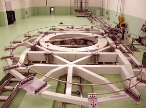 In La Spezia, Italy, Europe's toroidal field coil winding line is housed at ASG Superconductors SpA. (Click to view larger version...)
