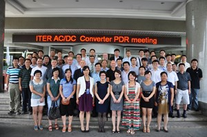 Participants from the Chinese Domestic Agency and ITER's Electrical Engineering Division at the meeting. (Click to view larger version...)