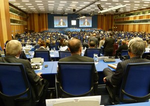 The IAEA held its annual General Conference from 17 to 21 September 2012 in Vienna. Over five days, close to 2,000 high-level governmental representatives from the IAEA's 155 Member States gathered to consider and discuss a range of topics on the peaceful development of nuclear science and technologies. (Click to view larger version...)