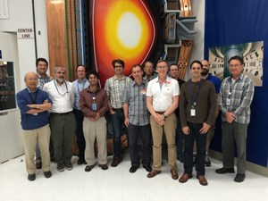 The team of international scientists that worked on the TBM mockup experiments on the DIII-D tokamak in San Diego included Joseph Snipes (5th from right), Stability & Control Section leader from the ITER Organization. (Click to view larger version...)