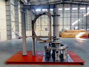 Korea has built and tested this 5:1-scale mockup of the largest tool in the subgroup—the Vacuum Vessel Sector Sub Assembly Tool. (Click to view larger version...)