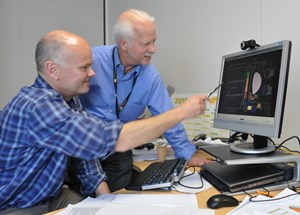 Anders Wallander and Thomas Casper: working on RDBS has provided strong linkage between CODAC engineers and Fusion Science & Technology (FST) physicists. (Click to view larger version...)