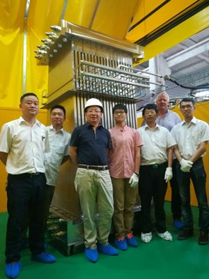 The first production unit has been realized in China. Its design is based on years of prototyping, load analyses and testing ... and the input of engineers from the ITER Organization, the Chinese Domestic Agency, and contractors in China. (Click to view larger version...)