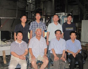 The ASIPP high temperature superconductor current leads team: (back left to right) H. Feng, L. Niu, X. Huang, T. Zhou; (front left to right) Y. Song, Y. Bi, Y. Yang, K. Ding (Click to view larger version...)