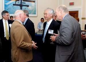 Osamu Motojima, Director-General of the ITER Organization, attending the reception on Capitol Hill. (Click to view larger version...)