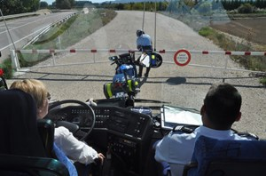 Organizers of the convoys will create a moving ''bubble'' that guarantees both the safety of the public and that of the components. (Click to view larger version...)