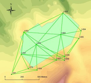 Measurement geometry for the Primary Survey Network monuments. Image credit: ITER Organization (Click to view larger version...)