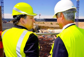 José Manuel Barroso, the President of the European Commission, is convinced that the future of Europe is in science and innovation. On 11 July 2014, he visited ITER to reaffirm Europe's commitment to ITER. (Click to view larger version...)