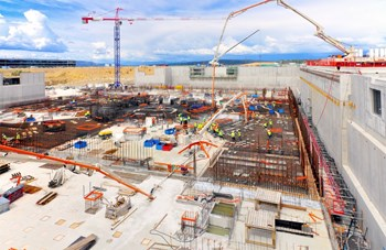 No summer break for ITER construction! On 29 July, workers poured one of the central segments of the Tokamak Complex basemat. (Click to view larger version...)