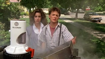 In this scene from the 1985 movie ''Back to the Future,'' fusion makes its film debut. (Click to view larger version...)
