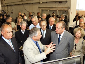 Two days after the historic decision, on 30 June, French President Jacques Chirac was in Cadarache. No one had ''won,'' no one had ''lost.'' The ITER Members had demonstrated their capacity to overcome difficult odds and to imagine a solution that was acceptable to all. (Click to view larger version...)