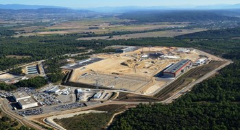 On this elevated 42-hectare platform in southern France, 35 nations are pooling their resources to build ITER. (Click to view larger version...)