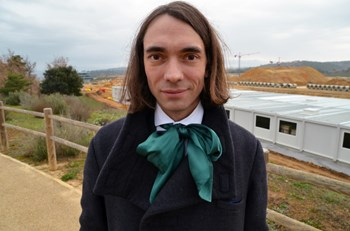 2010 Fields Medal laureate Cédric Villani visited the ITER site on Thursday 20 December before giving a seminar at CEA-Cadarache's IRFM. (Click to view larger version...)