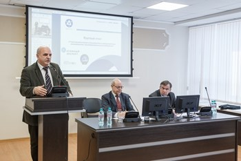''The training of specialists for the implementation of the national program in fusion should be considered as one of the key tasks of Russia's participation in ITER,'' said Anatoli Krasilnikov (left), head of the Russian Domestic Agency for ITER. (Click to view larger version...)