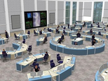 Where JET or Tore Supra have an average of 20 operators in their Control Rooms, ITER will have 60 to 80 operators, engineers and researchers. (Click to view larger version...)