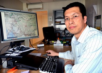 Yanchun, who adopted the name ''Kevin'' for the convenience of communication, has come from Shanghai to ITER to manage the logistics of the components that the ITER Domestic Agencies will begin shipping in 2014. (Click to view larger version...)