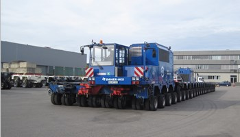 This 352-wheel vehicle, pulled/pushed along by two 490 hp tractors, will travel the 104 kilometres of the ITER Itinerary at night from 16-20 September—part of a test campaign to prepare for the first ITER loads in June 2014. (Click to view larger version...)