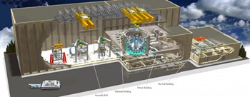The design of the cranes must integrate the wider context, taking decommissioning requirements into consideration and also integrating the crane system into the structures of both the Assembly Building and the Tokamak Complex. (Click to view larger version...)