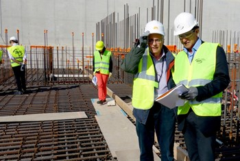 Two CLI members, Alain Mailliat (front, left) and Bertrand Beaumont (not pictured), participated on 24 October in an inspection of the ITER worksite carried out by the French nuclear safety authority ASN. (Click to view larger version...)