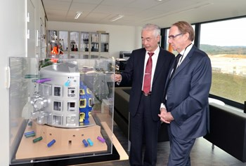 ''Aix-Marseille University and the ITER Organization have two essential traits in common. Both are young and turned towards the future,'' said Aix-Marseille University president Yvon Berland. (Click to view larger version...)
