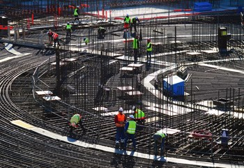 Spiders spin their web out of instinct. Rebar workers follow detailed execution drawings that result from a long chain of calculations... (Click to view larger version...)