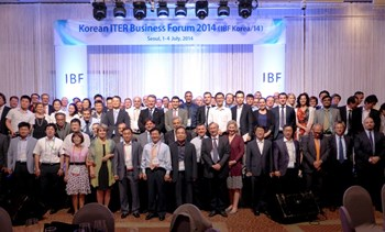 IBF Korea/14 was organized by the Korean Domestic Agency for ITER with the participation and support of the ITER Organization, the European Domestic Agency (Fusion for Energy) and the other ITER Domestic Agencies. (Click to view larger version...)