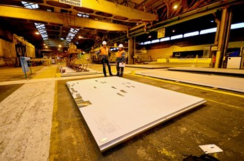 These steel plates, ready to be shipped to Korea, are for the ITER thermal shield. (Click to view larger version...)