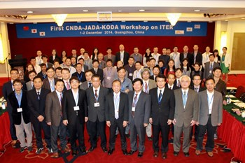 The first China-Japan-Korea workshop on ITER, held on 1-2 December, attracted over 60 participants. (Click to view larger version...)