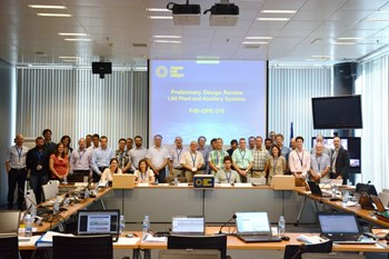 The design review panel participants during their meeting in F4E, Barcelona. (Click to view larger version...)