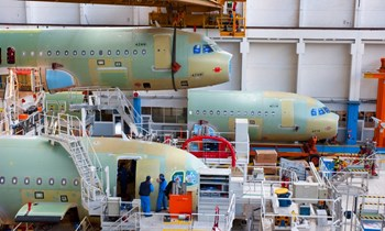 The Airbus assembly line in Toulouse, France. © Airbus (Click to view larger version...)