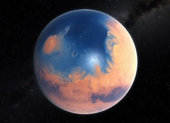 Another Blue Planet? Yes ... some four billion years ago. © ESO (Click to view larger version...)