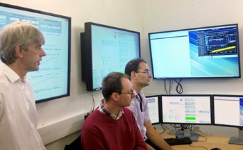 In the CODAC control room, a prototype neutron diagnostics plant I&C system was successfully demonstrated in September. (Click to view larger version...)