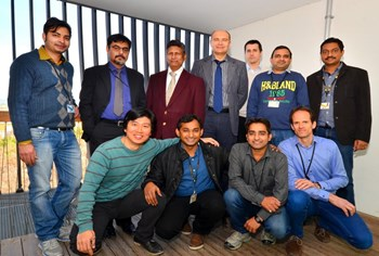 It took a team to bring the design for cryostat auxiliary components to completion. Pictured: members from the ITER Organization central team and the Indian Domestic Agency. (Click to view larger version...)