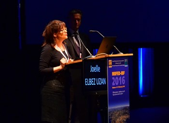 Joëlle Elbez-Uzan, head of the ITER Environmental Protection & Nuclear Safety Division, at the recent MIIFED in Monaco. ''The key word [in safety culture] is pragmatism.'' (Click to view larger version...)