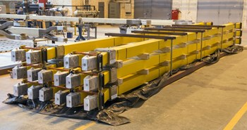 Direct current aluminium busbars are prepared for shipment at the Efremov Institute, in Russia. Over five kilometres—or 500 tonnes of material--will be needed to connect ITER's superconducting magnets to their power supplies. (Click to view larger version...)