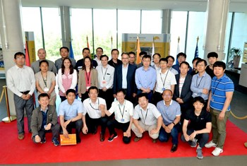 Preparing for the installation phase: specialists from the ITER Organization, the Korean, Chinese and Russian Domestic Agencies, and the industries involved gathered for a two-day workshop at ITER Headquarters. (Click to view larger version...)