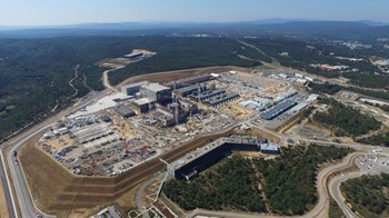 Less spectacular but just as important: all of the site adaptation works that must be carried out to support the operation of the ITER machine and systems as well as provide the required amenities for a site workforce of 2,000 people. Photo: ITER Organization/EJF Riche (August 2018) (Click to view larger version...)