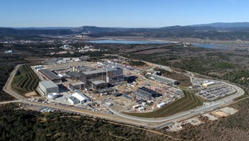 Less spectacular but just as important: all of the site adaptation works that must be carried out to support the operation of the ITER machine and systems as well as provide the required amenities for a site workforce of 2,000 people. Photo: ITER Organization/EJF Riche (February 2020) (Click to view larger version...)