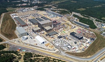 Less spectacular but just as important: all of the site adaptation works that must be carried out to support the operation of the ITER machine and systems as well as provide the required amenities for a site workforce of 2,000 people. Photo: ITER Organization/EJF Riche (October 2019) (Click to view larger version...)