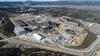 Less spectacular but just as important: all of the site adaptation works that must be carried out to support the operation of the ITER machine and systems as well as provide the required amenities for a site workforce of 2,000 people. Photo: ITER Organization/EJF Riche (February 2019) (Click to view larger version...)