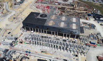 On site, the hot and cold basins, the water cooling pump station, the heat exchange zone and the water treatment facility have all been handed over to the ITER Organization for equipment installation activities. Photo: ITER Organization/EJF Riche (Click to view larger version...)
