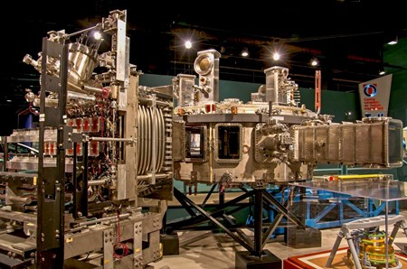 A rare, if not unique, example of a tokamak with a ''for sale'' tag attached: the Tokamak de Varennes, now one of the most spectacular exhibits at the Canada Science and Technology Museum in Ottawa, Canada. (Click to view larger version...)