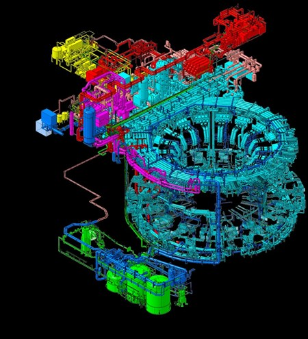 The Tokamak cooling water system (TCWS) is one of the mechanical systems of the ITER machine that falls into the category of nuclear pressure equipment, which requires that conformity assessments be performed at every stage of fabrication. The ITER Organization has acquired ''Module H,'' which recognizes the Organization as a pressure equipment manufacturer with a full, certified quality assurance system. (Click to view larger version...)