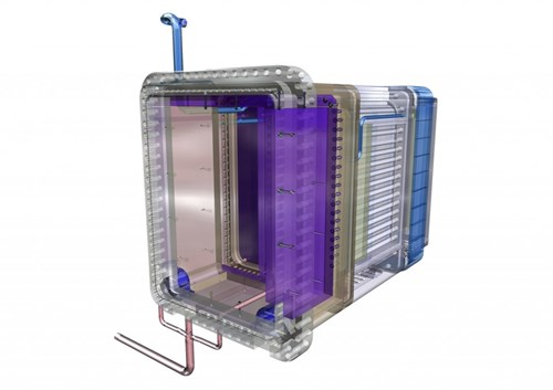 Six different tritium breeding concepts—the Test Blanket Modules—will be tested in dedictated ''ports'' in the vacuum vessel like this one. The successful development of tritium breeding is essential for the future of fusion energy. (Click to view larger version...)