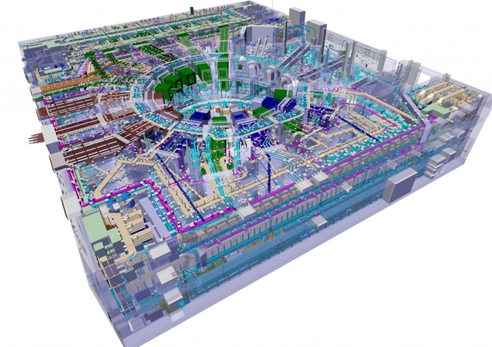 With more than 30 different plant systems the seven-storey Tokamak Complex will be a pretty busy house... (Click to view larger version...)