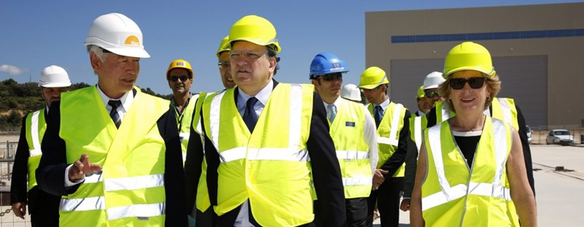 José Manuel Barroso, the President of the European Commission,  is convinced that the future of Europe is in science and innovation. On 11 July 2014, he visited ITER to reaffirm Europe's commitment to ITER.