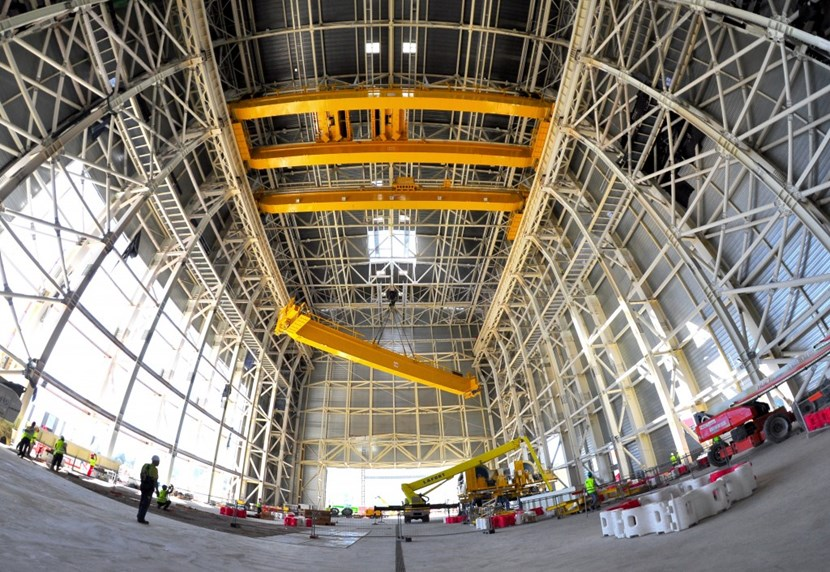 The overhead crane will have a double role to play in ITER, first handling the machine components during the installation and assembly phase that begins in 2019 ... and then handling them again during the dismantling phase of the project. (Click to view larger version...)