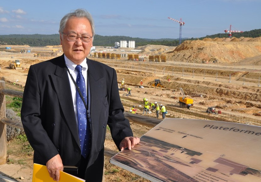 On his visit to ITER, Masaaki Sato, the new Consul General of Japan in Marseille, met with Director-General Osamu Motojima and toured the ITER work site. (Click to view larger version...)