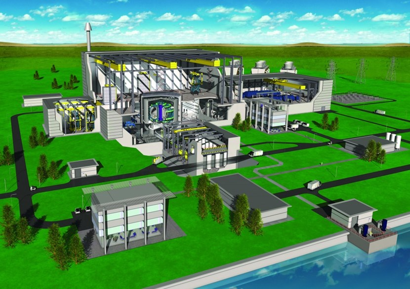 An artist's impression based on European fusion power plant design. © EFDA (Click to view larger version...)